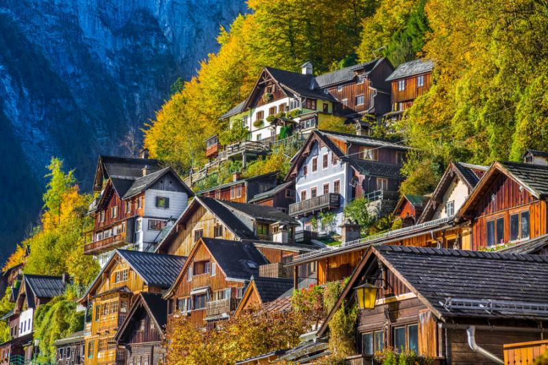 Hallstatt mountain village, Austria.