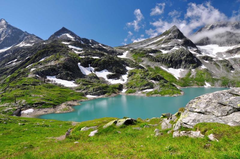 Austria Hohe Tauern National park, Weisssee White Lake, Austrian Alps.