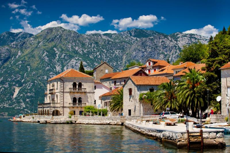 The landscape of Perast.