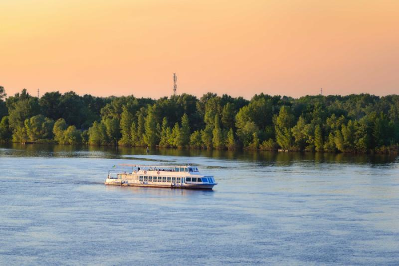 Dnieper River cruise, Ukraine.