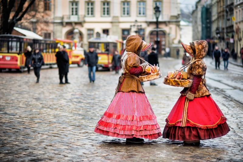 Traditional clothes, Lviv, Ukraine.