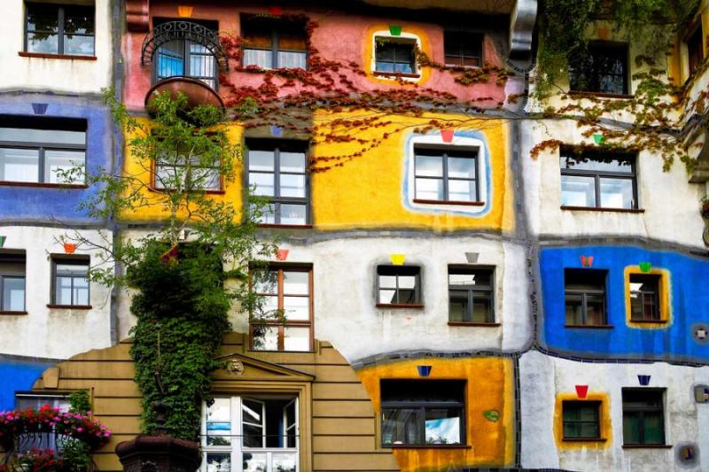 View of Hundertwasser, Austria.